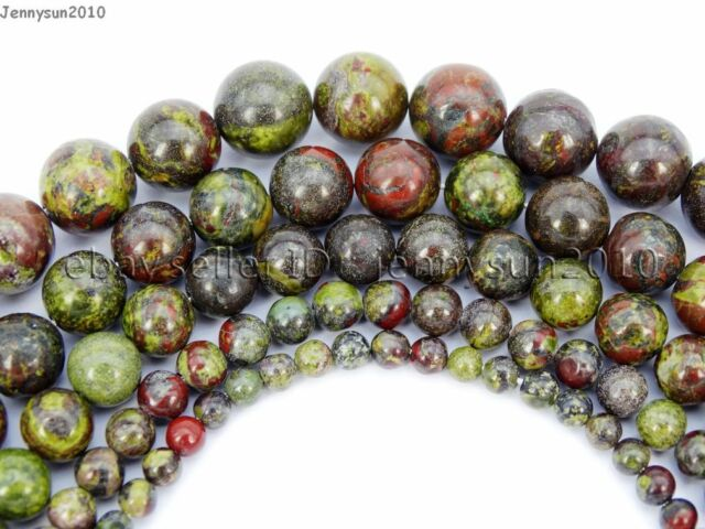 Natural Dragon Bloodstone Gemstone Round Spacer Beads 15.5'' 4mm 6mm 8mm