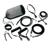 Valeo Portable Fitness Kit Workout Travel Companion Resistance Tube Jump Rope