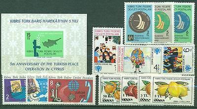 Europa Zypern Zypern Jahrgang 1979 Michelnummer 66-79 ** Mnh Katalog 13,20 € Flight Tracker Türkisch