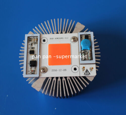 Heat Sink 50W Full Spectrum  High Power led chip built-in driver 380NM-840NM