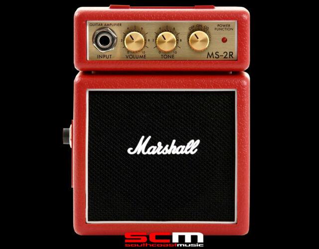 Marshall MS2R Red Micro Stack 1 Watt Guitar Amplifier MS-2R Amp
