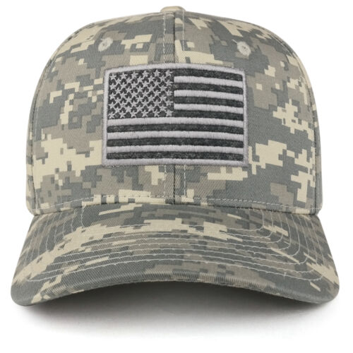 FREESHIP American Flag Embroidered Camo Tactical Operator Structured Cotton Cap