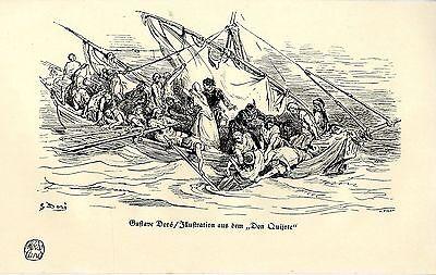 """Trendmarkierung Gustave Doré / H. Pisan Illustration Aus Dem """"don Quijote"""" Histor.kunstdruck1914"""