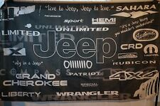 JEEP History Brand Car Truck Flag Banner Man Cave Garage Shop 3x5 Feet