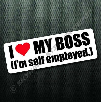 I love my boss funny bumper sticker vinyl decal self adhesive car sticker truck