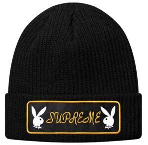 Supreme-Playboy-Patch-Beanie-Black-FW16