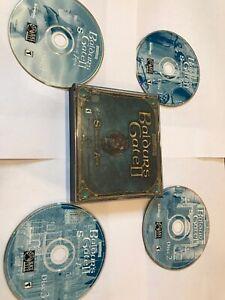 Baldur-039-s-Gate-2-II-Shadows-of-Amn-PC-2000-4-Disc-Set-VG-NM-Complete-Rare