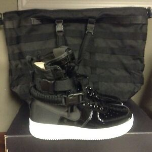 Nike Women Air Force 1 Sf Special Edition Prem Black BLK-Silver ... 8f65b63e94