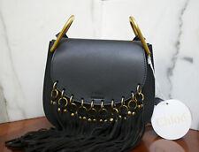 CHLOÉ - Hudson Black suede tassel leather bag NWT ORIGINALLY $2,390