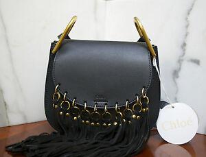 CHLOÉ – Hudson Black suede tassel leather bag NWT ORIGINALLY  2 d4c55015745e