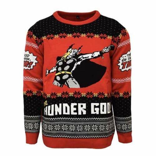 XXL//US XL NEUF Officiel Numskull Noël Noël Pull Thor Noël UK