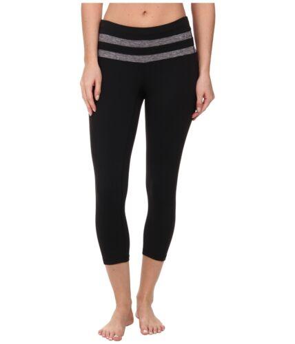 PRANA WOMENS FLORENCE LEGGINGS PANTS YOGA EXERCISE BLACK NEW NWT S SMALL CAPRI