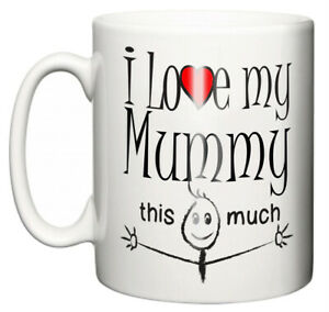 Dirty-Fingers-Mug-034-I-Love-My-Mummy-This-Much-034-Mothers-Day-Baby-Shower-Gift