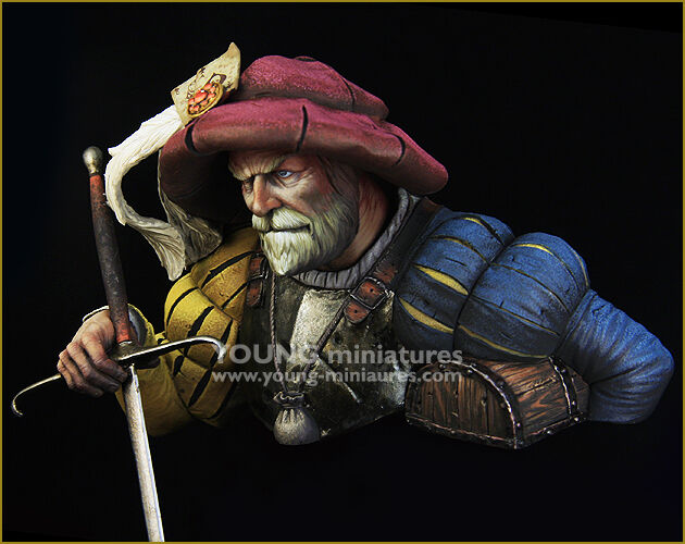 Young Miniatures Landsknecht Bust 1 10th YH1851 Unpainted kit
