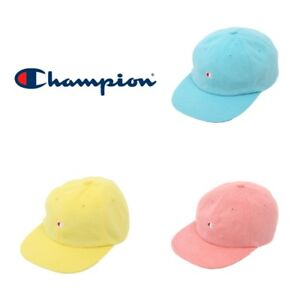 02acf6a80a7 CHAMPION PILE 6P Cap Adjustable Cap Hat Yellow Pink Blue Free Size ...