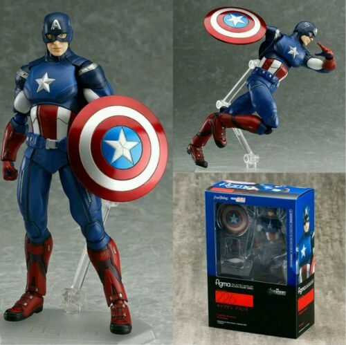 "ACTION FIGURE 6,3/""  FIGMA #226 IN BOX THE AVENGERS// CAPITAN AMERICA 16 CM"