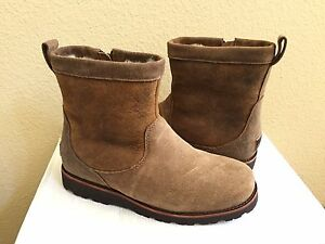 184b8429012 Details about UGG MEN HENDREN TL BOMBER CHESTNUT WATERPROOF LEATHER Boot US  8 / EU 40.5 / UK 7