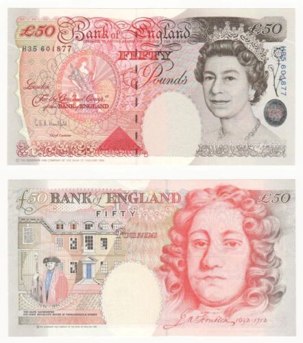 Bank of England £50 - BYB ref: BE257 (G.Kentfield) UNC.