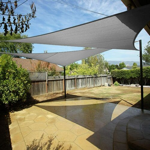 Voile Pare-Soleil En Triangle Carré Protection Solaire Voile ombrage ombre voile HDPE
