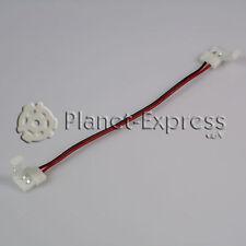 Conector extension cable con 2 conectores 8mm 2 pines Tira led de un color SMD