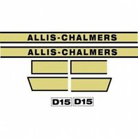 Acd15 Hood Decal Set Ac For Allis Chalmers D15 Tractor