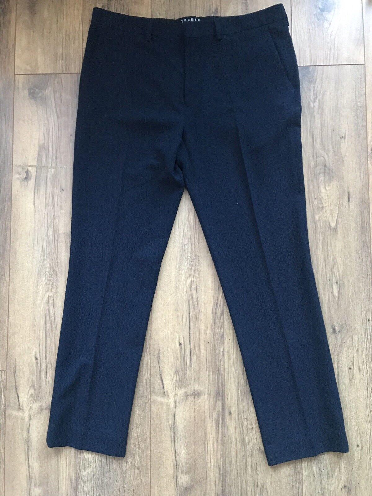 Topman Navy Trousers Size 34S