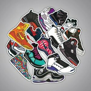 100 pcs Nike Jordan Air Max stickers basketball shoe