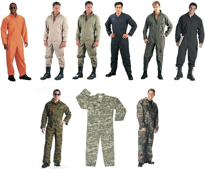 Military Style Flight Suit Coveralls Air Force Jump Suit Overalls Camo Rothco