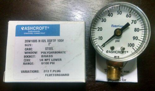 Ashcroft PRESSURE GAUGE 0-100 Psi 20W1005 H 02L Pool Filter
