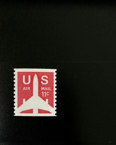 1971 11c Jet Silhouette, Coil, Air Mail Scott C82 Mint