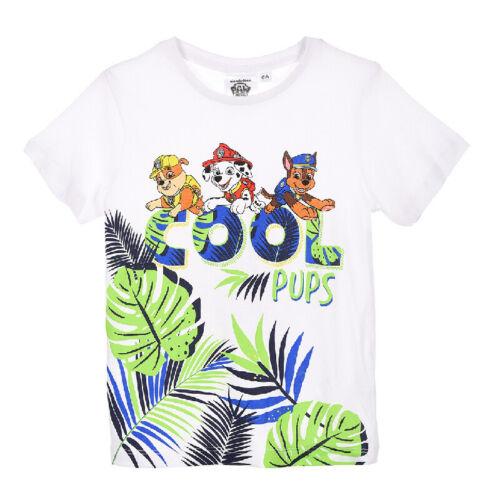 Paw Patrol Marshall Chase T-Shirt Shirt Manches Courtes Shirt Garçons Blanc