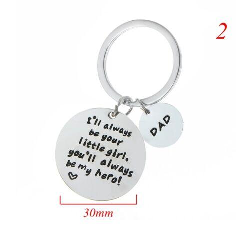 Silber Dad Schlüsselanhänger Schlüsselanhänger Taschenanhänger Zubehör Mode