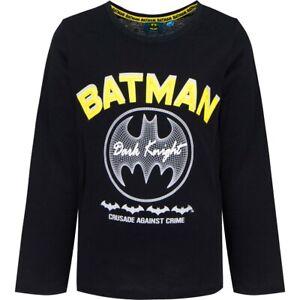 Batman Langarmshirt Jungen Shirt Kinder T-Shirt Langarm Rundhals Neu Gr 98 - 126