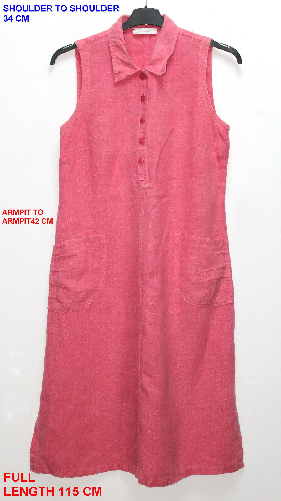 ELISA CAVALETTI LADIES LADIES LADIES WOMAN DRESS TUNIC SLEEVELESS SIZE S LENGTH pink PINK COL dba021