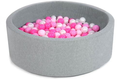 Piscina di schiuma con 200 palline per i bambini 90 x 40 cm Tanti colori