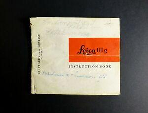 1957-LEICA-IIIg-35mm-Rangefinder-Camera-Instruction-Manual