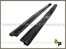 06-11 BMW E90 320i 328i 4Dr w/ M Tech Carbon Fiber Side Skirts Extension Lip