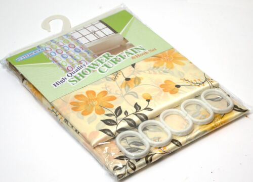 NEW Modern Bath Shower Curtain with Ring Hooks 170 x 180 cm