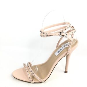 91b71f36410 Steve Madden Wish Womens Size 7.5 M Blush Leather Heel Dress Sandals ...