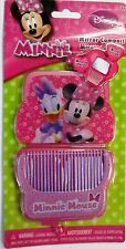 """NEW DISNEY """"MINNIE"""" MOUSE MINNIE & DAISY MIRROR COMPACT WITH COMB BOWTIQUE (PR)"""