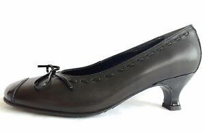 Hotter-Womens-Ladies-Girls-Black-Patent-Leather-Court-Work-Shoes-Size-3-36-New