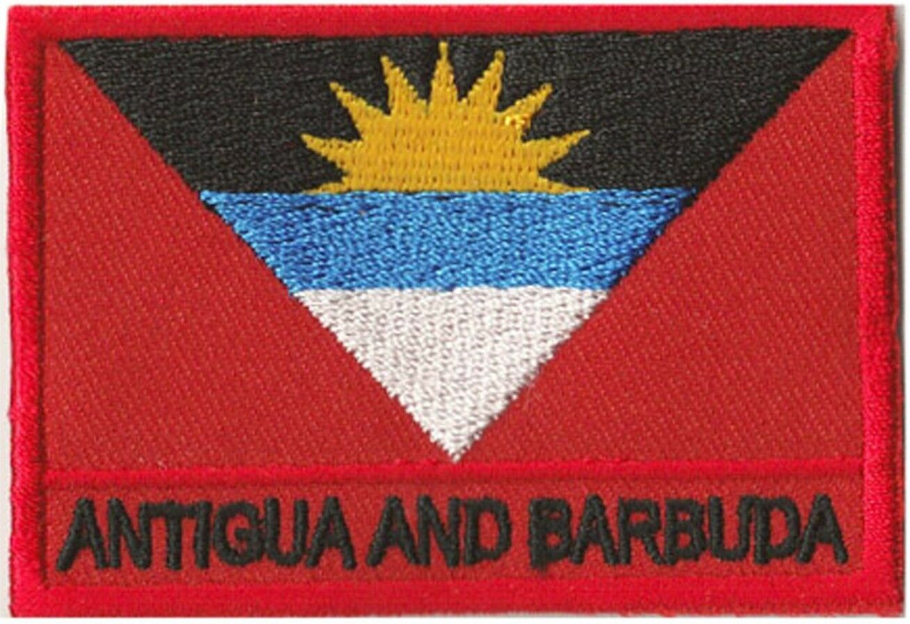Patch insigne écusson coudre patche drapeau Antigua x et Barbuda 70 x Antigua 45 mm 74eeca