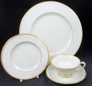 Lenox-MANSFIELD-Dinner-Plate-Bread-amp-Butter-Cup-amp-Saucer-C513-GREAT-CONDITION