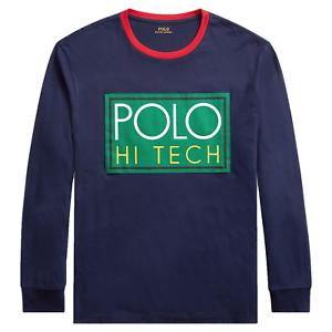Details about NEW Polo Ralph Lauren Hi Tech Classic Fit Long Sleeve Mens T Shirt, Navy