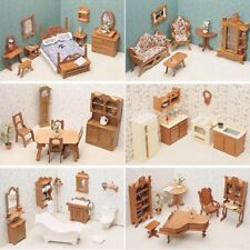 Greenleaf Dollhouse Furniture Kit 6 Room Wooden Build It Yourself 1 Inch Scale