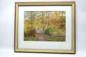 Gustav-Mueller-Aquarell-Herbst-in-Bayreuther-Hofgarten-19-Oktober-1946