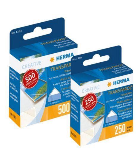 1383 oder 500 Stück 1380 Fotoecken Herma Transparol Packung mit 250 Stück