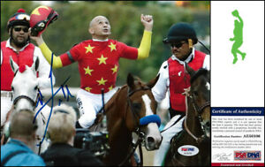 MIKE-SMITH-AUTOGRAPH-SIGNED-8X10-PHOTO-PICTURE-TRIPLE-CROWN-JUSTIFY-PSA-DNA-COA
