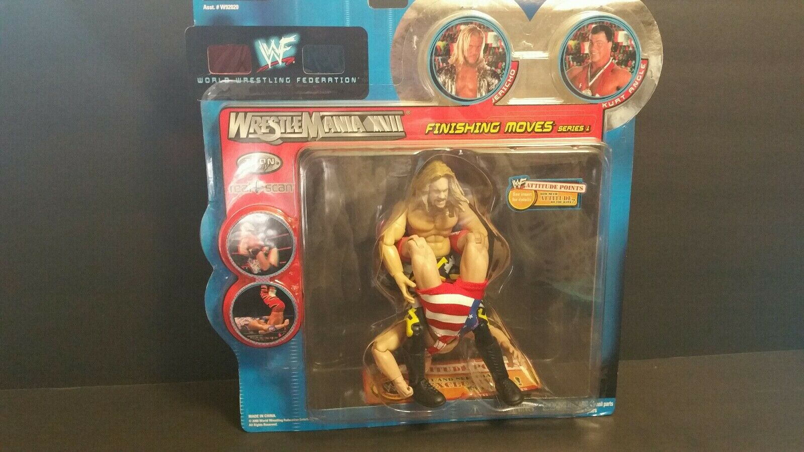 WWF FINISHING MOVES SERIES 1 JERICHO KURT ANGLE ACTION FIGURE(102)