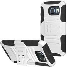 Amzer Tough Armor Hybrid Kickstand Case Combo For GALAXY S6 Edge - Black/ White